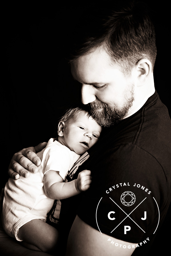 Newborn Baby Boy and His Father