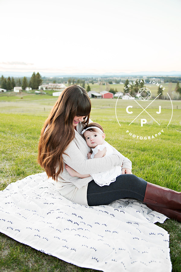 mama and 8 month old baby girl portraits