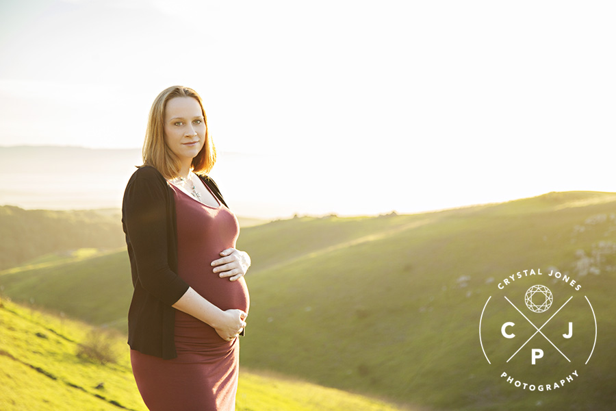 Sunset Pregnancy portraits in the bay area