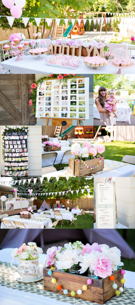 Epic and beautiful first birthday party for baby girl