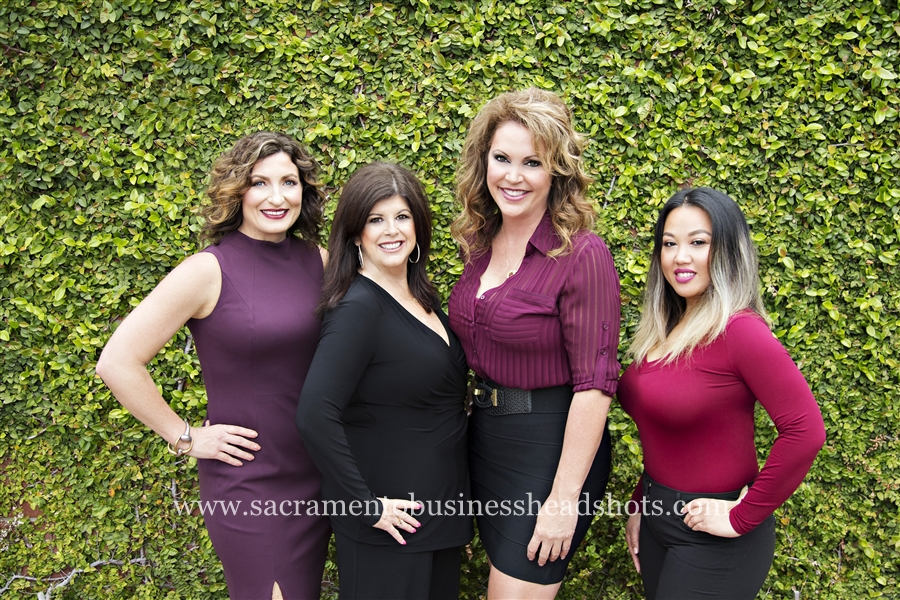 sacramento business headshots for real estate team