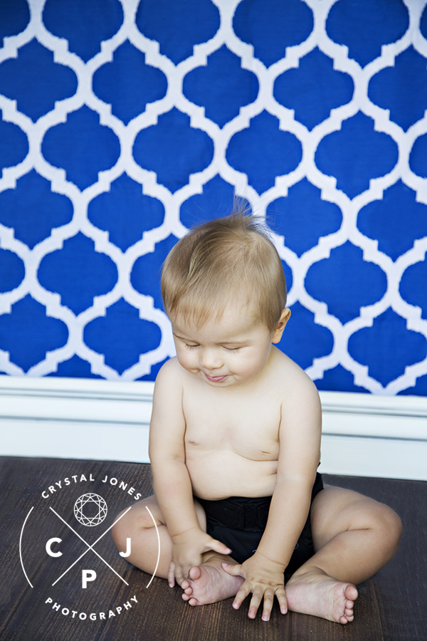 Baby Boy Milestone Portraits at Home