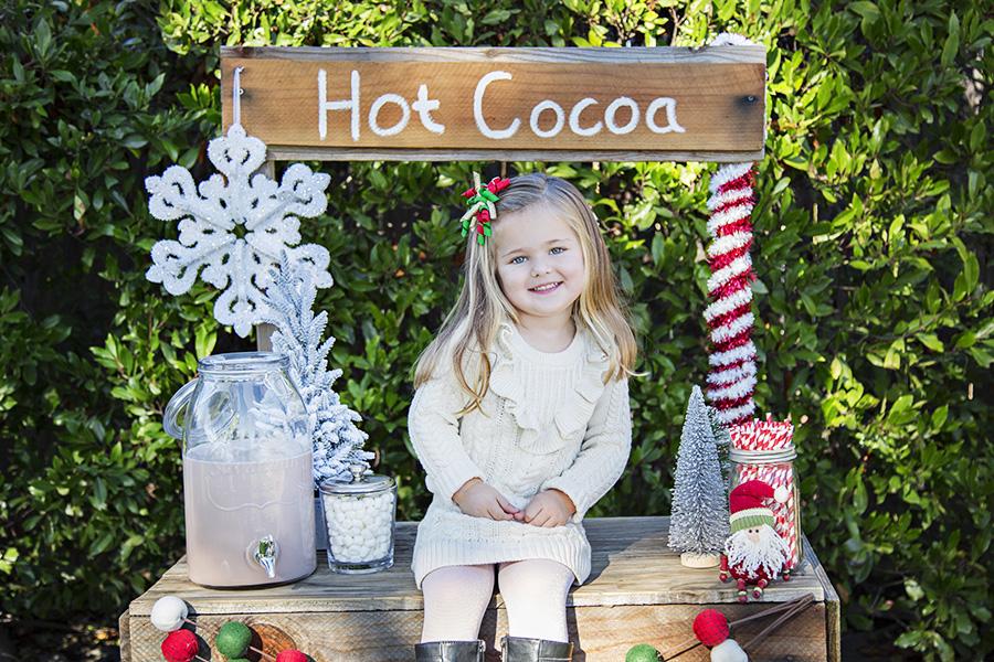 Hot Cocoa Stand Mini Sessions in Rockin CA 2018