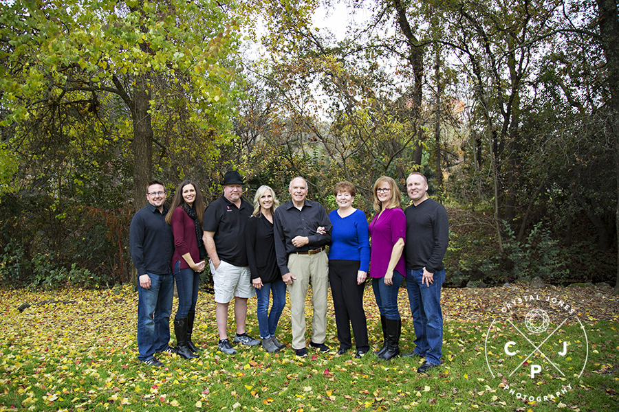 Extended Family Portrait in Rocklin CA