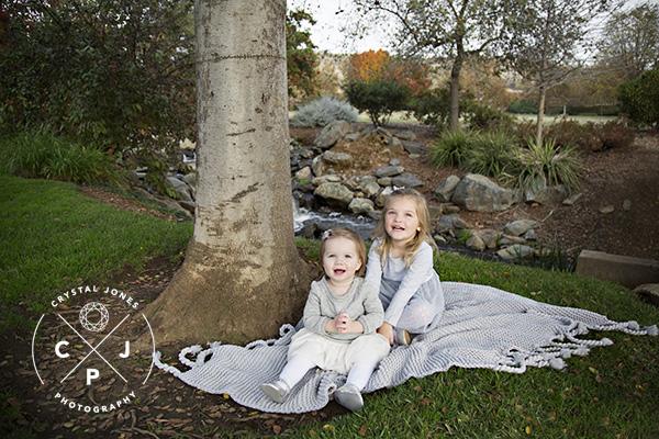 Family Photos at a pond in El Dorado Hills
