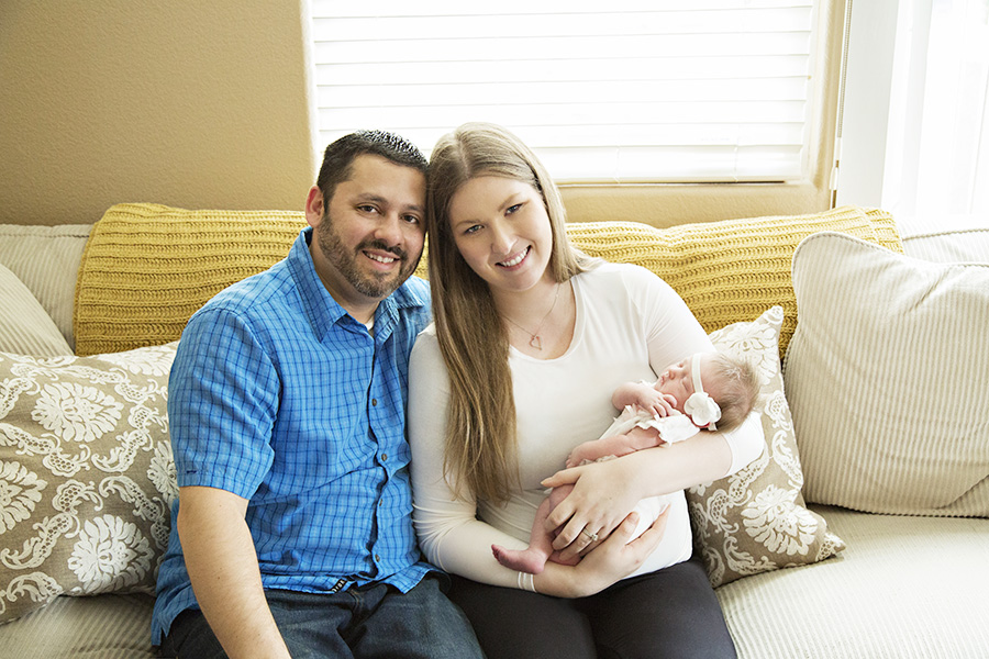 Comfy Cozy in Home Newborn Photos