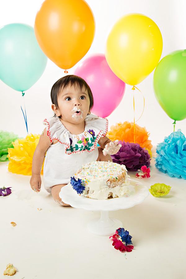 In studio fiesta themed cake smash in rocklin ca