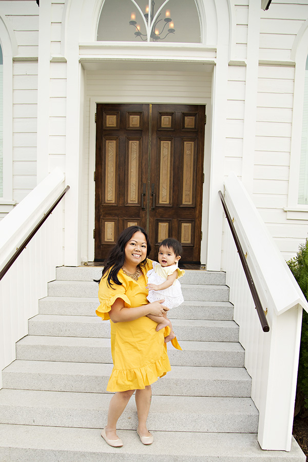 Mom and baby girl portraits in rocklin ca