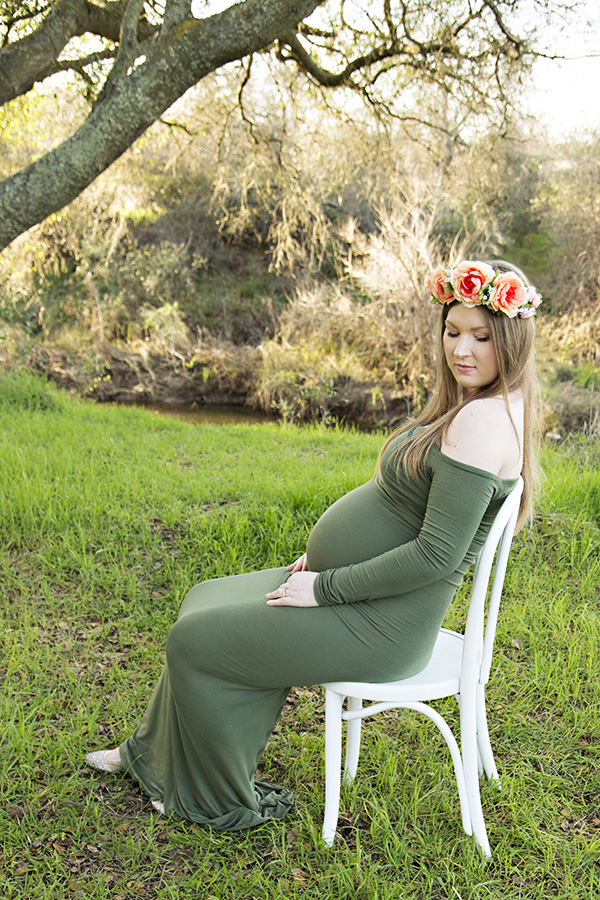 Pregnancy portrait of beautiful mom to be