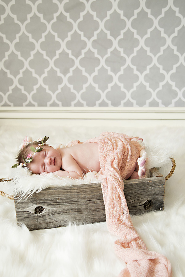 Comfy Cozy in Home Newborn Photos