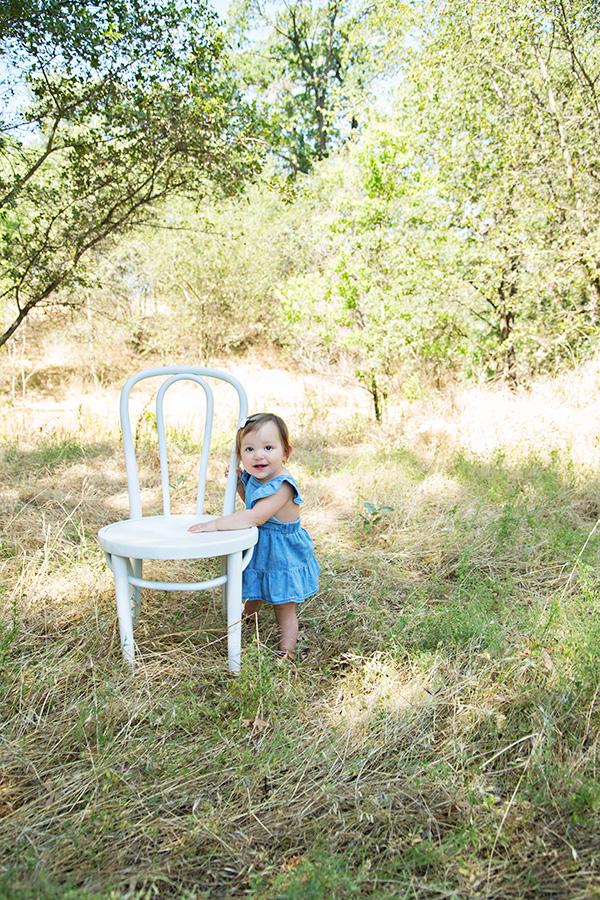 Baby Girl One Year Milestone Portraits