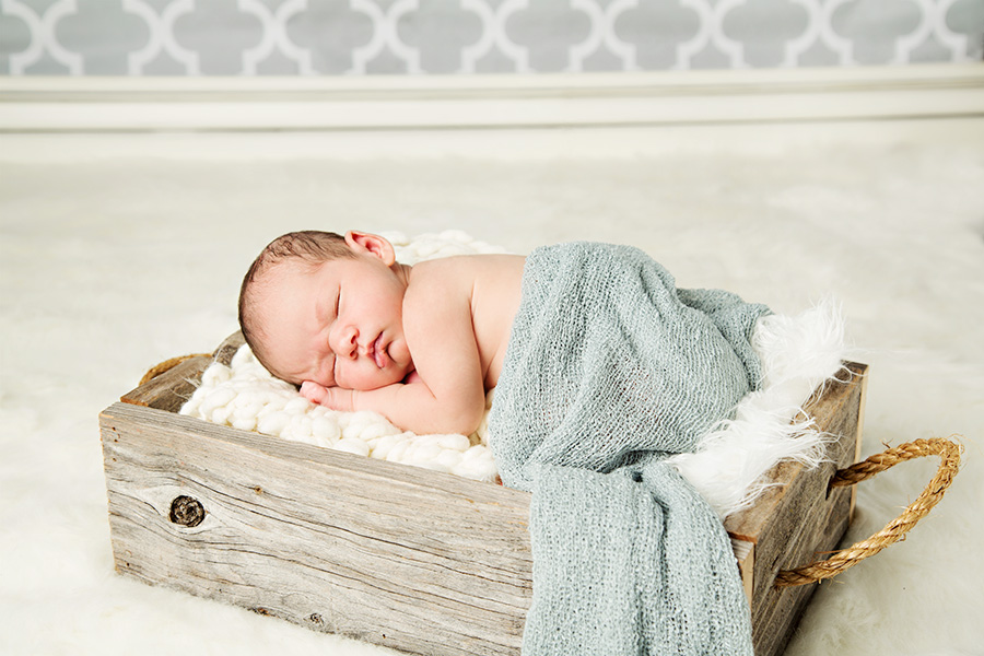 Cozy Newborn Baby Boy Portraits