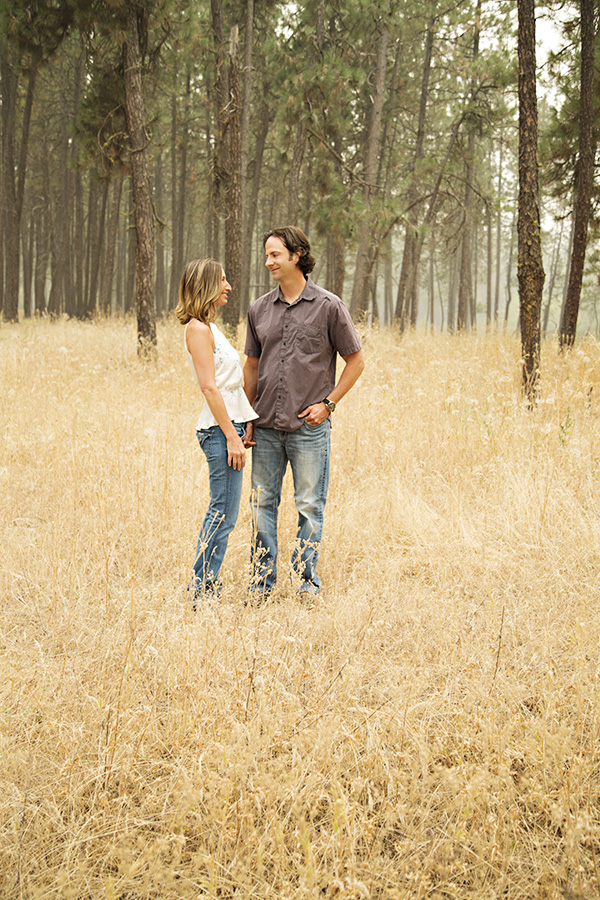 Engagement Photos in the forest in Roseville CA
