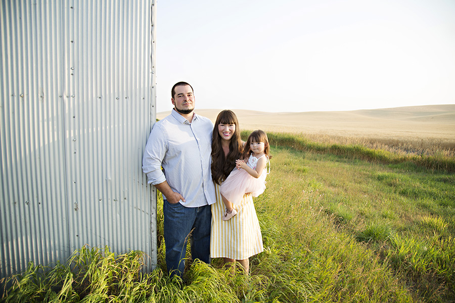 Outdoor Family Photos in the Country at Sunset