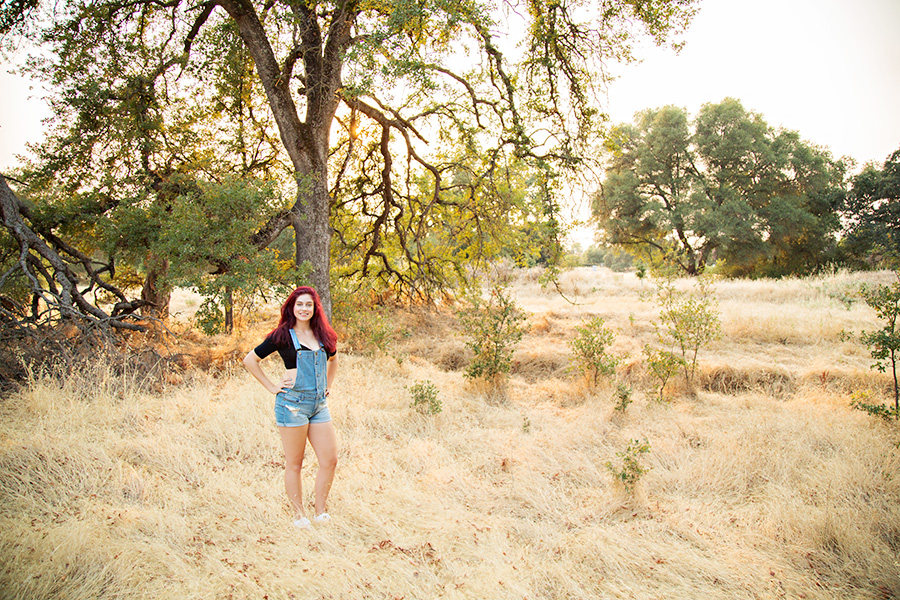 Outdoor Senior Portraits at Sunset in Roseville