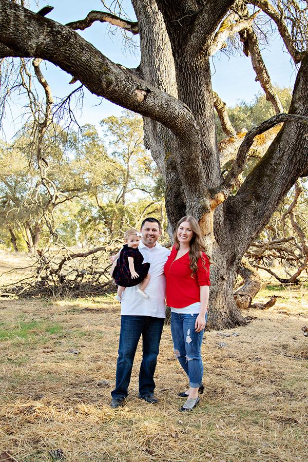 Christmas Family Portraits in Roseville CA