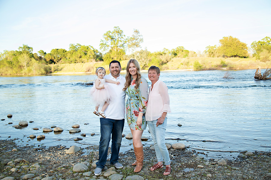 Family Portraits on the American River in Sacramento