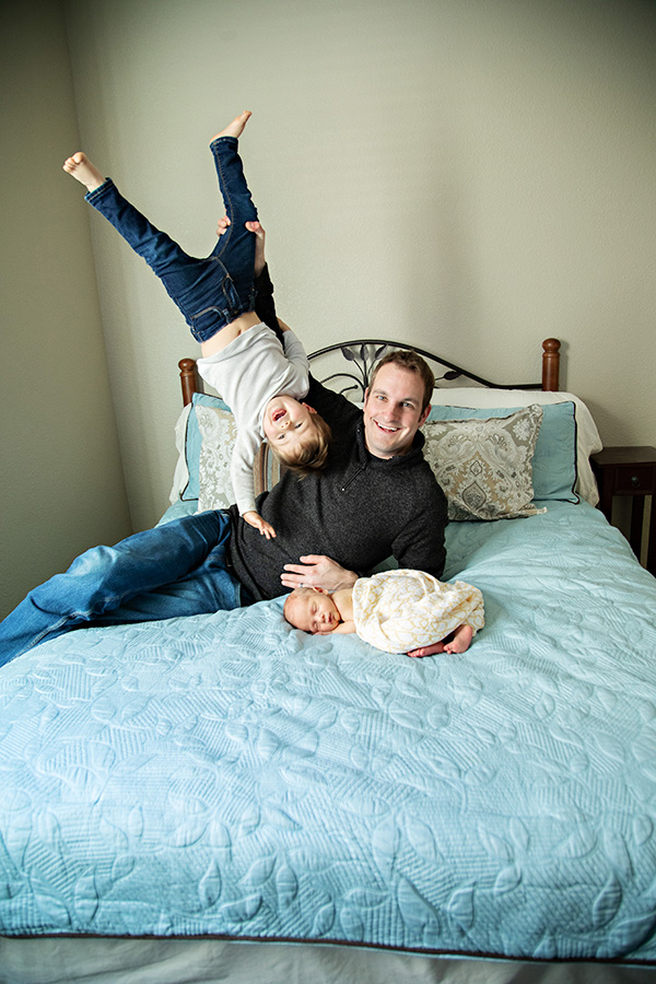 Goofy-Father-Son-Newborn-Portraits