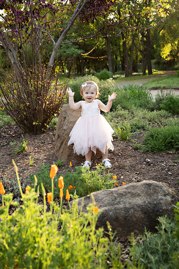One Year Girl Photoshoot in Sacramento CA
