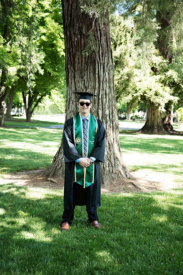 Sacramento State University Graduation Photos on Campus